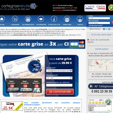 Carte grise minute